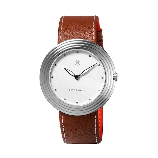 B004-01 Nove ストリームライナー スイス製 腕時計 Women  Brown White