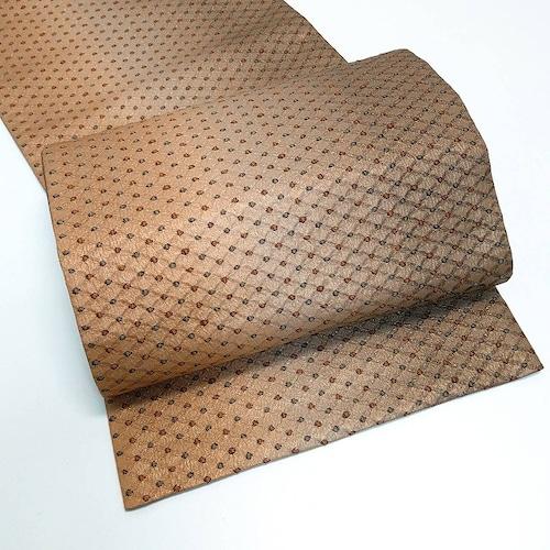 ★美品 袋帯 3色グラデ ラメ 格子 菱 シンプル ★ c104 縁ちゃぶ