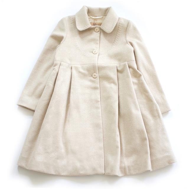 100%ピュアカシミヤ ドレスコート(ベージュ色) お子様用