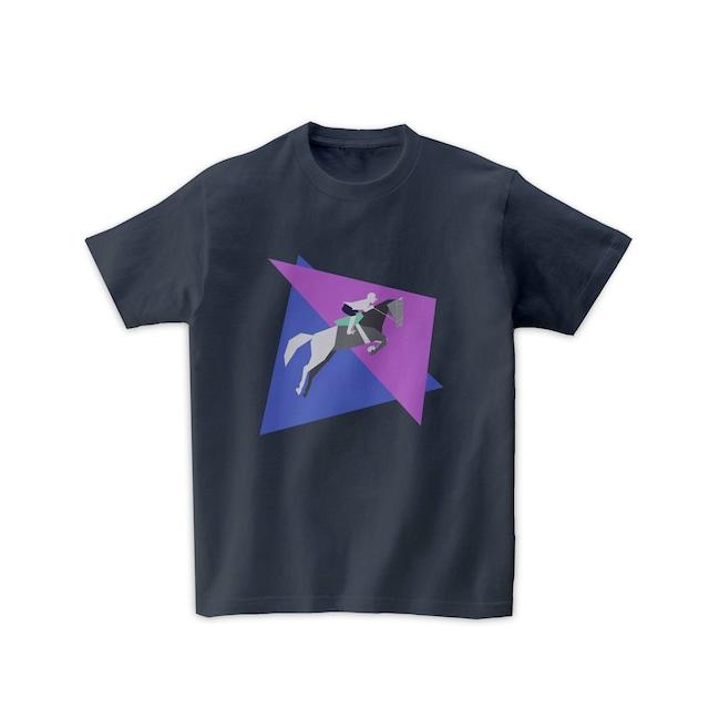 馬術Tシャツ-障害馬術