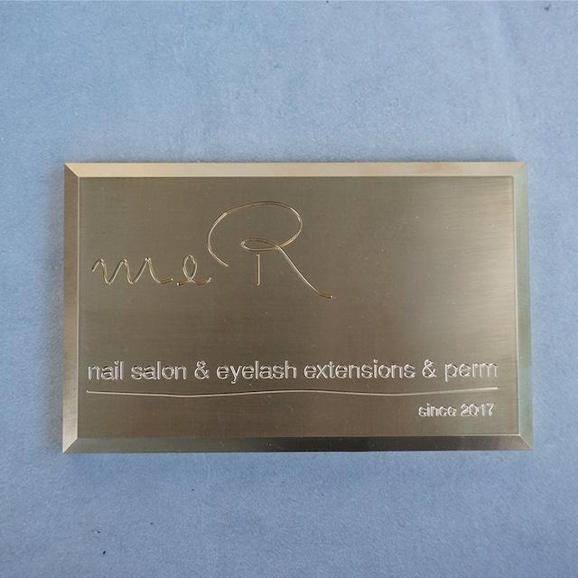 真鍮 ネームプレート rectangle
