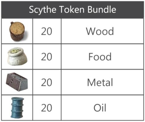 Scythe:大鎌戦役 リアリスティックトークンセット