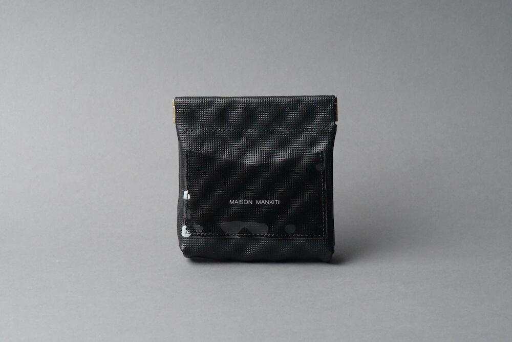 ワンタッチ・コインケース ■ Q ブラック■ - 画像1