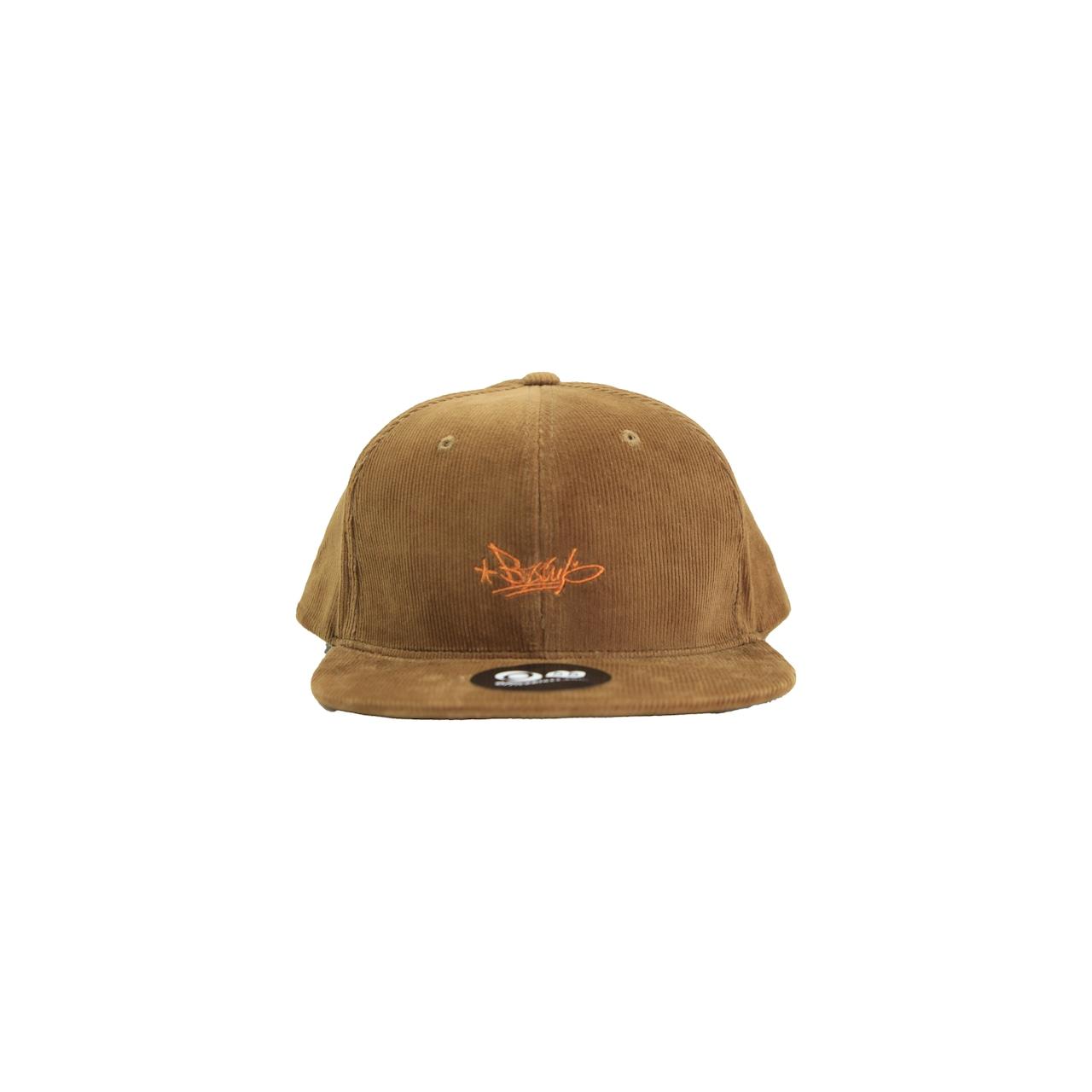 BZWS TAG CORDUROY B.B CAP [BROWN]