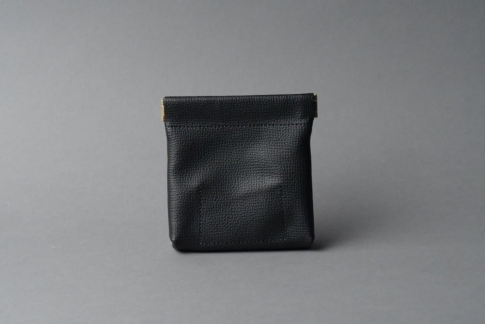 ワンタッチ・コインケース ■ブラック・シャンパンゴールド■ - 画像2