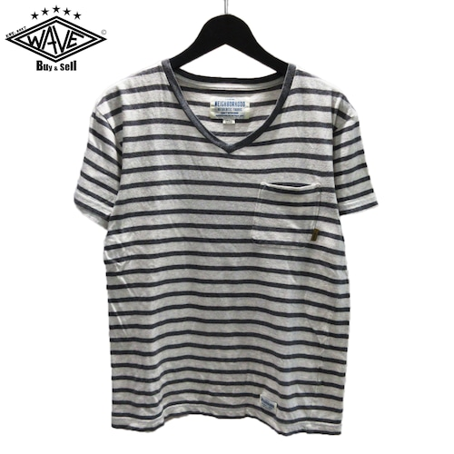 NEIGHBORHOOD 15SS ボーダーVネックTシャツ
