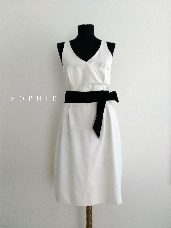 SOPHIE Linen Virgin White Dress リネンヴァージンホワイトドレス ソフィー