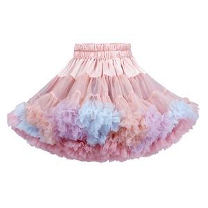 2951キッズ スカート チュチュスカート チュールスカート 女の子 TUTU 韓国子供服 ふわふわ 可愛い 子供用 発表会 ダンス ステージ衣装 ピンク