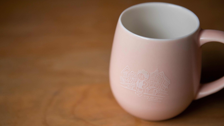 鬼ちゃんののマグカップ【マットピンク】※10/1(金)19時30分頃より販売開始となります。
