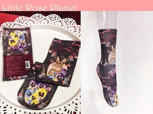【Little Rose Planet】花園の動物〜茶色ウサギ〜クルーソックス