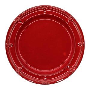 Koyo ラフィネ リムプレート 皿 約26cm ヴィンテージレッド 15944103