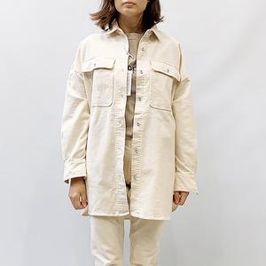 Healthy(ヘルシー) Almond コーデュロイビッグシャツ 2021秋物新作[送料無料]