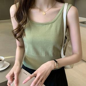5色/裾リブショート丈タンクトップ ・15156