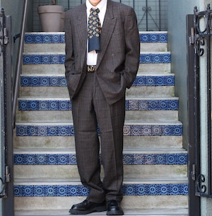 .Christian Dior CHECK PATTERNED DOUBLE SET UP SUIT/クリスチャンディオールチェック柄セットアップスーツ2000000055664