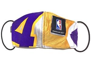 【デザイナーズマスク 吸水速乾COOLMAX使用 日本製】NBA LAKERS SPORTS SPECIAL Reebok MASK CTMR 0225005