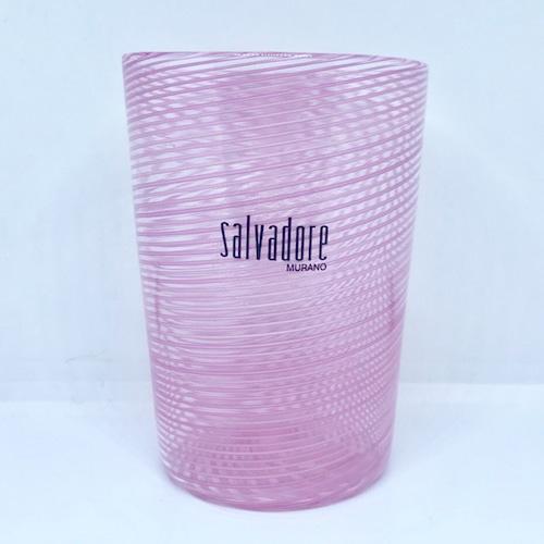 Item056 ヴェネチアングラス フィリグラーナグラス ロング ピンク