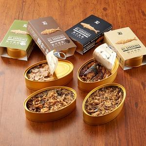 鯖の燻製缶詰 オイルサバディン 4缶セット ギフトボックス 静岡県沼津産【ギフトボックス】