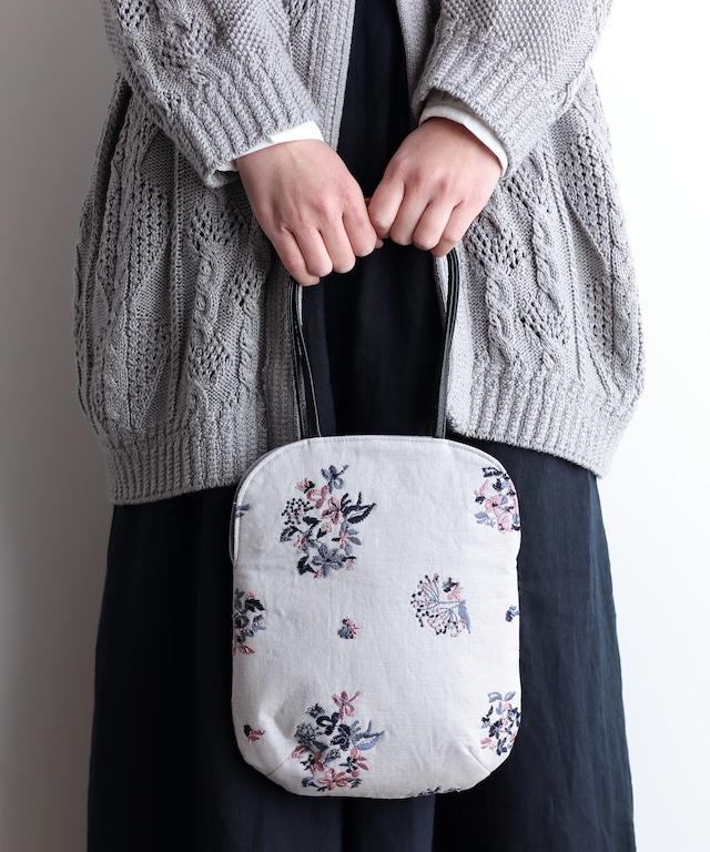野小花刺繍のminiバッグ (bag002)