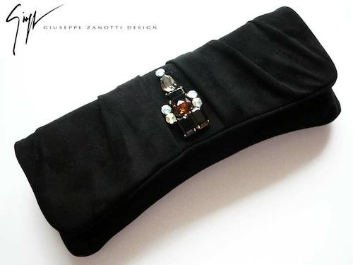 Giuseppe Zanotti★ジョゼッペ・ザノッティ☆イタリア製 ビジューのパーティーバッグ/色:ブラック   Giu_bag01