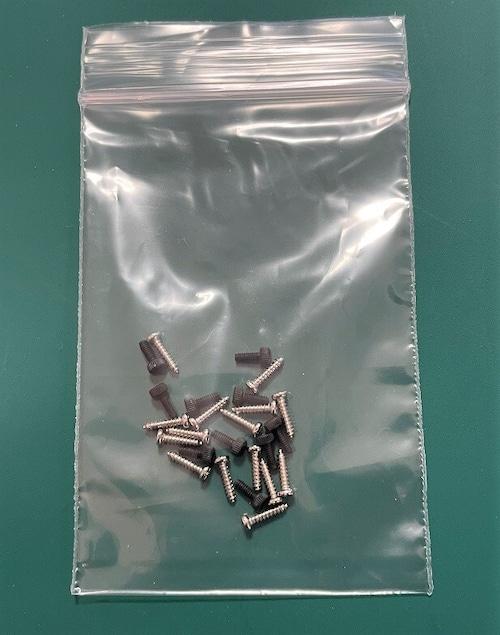 大特価◆M1 フレーム用半丸頭プラスタッピングネジ&サーボ取付六角ボルト、2種類ネジセット