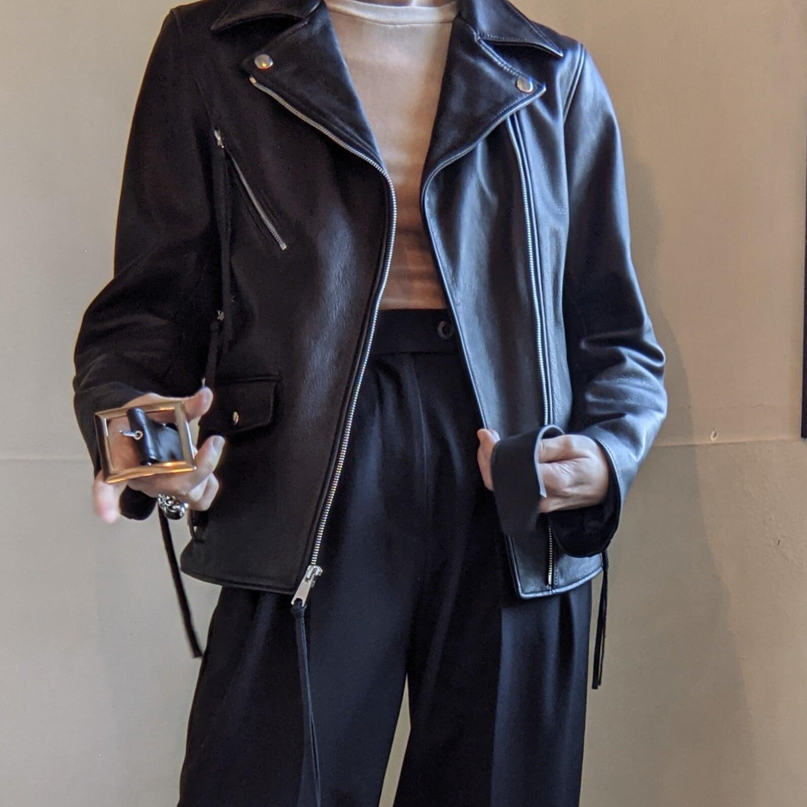 【 NoiSECRAFT 】ノイズクラフト / Riders jacket / レザージャケット / BLACK / S size