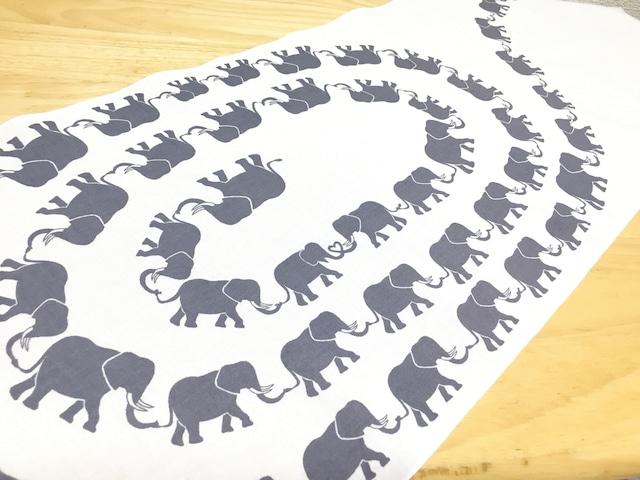 手染め手ぬぐい「象」