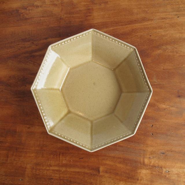 吉田健宗 | 深黄釉オクトゴナル鉢