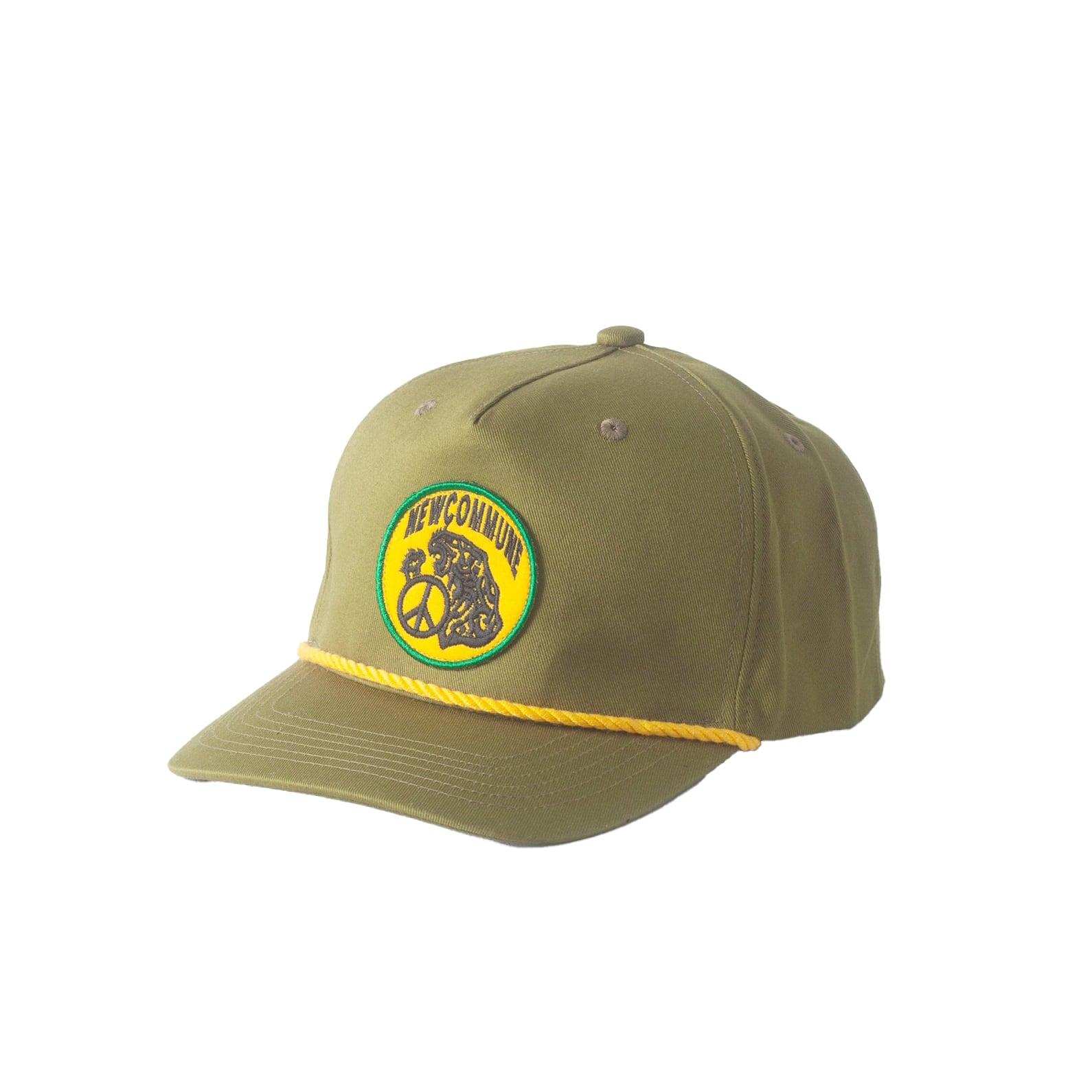 NEW COMMUNE 5 PANEL CAP / GREEN - 画像1
