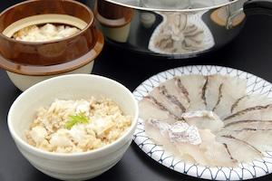愛媛県由良の鯛しゃぶ&鯛釜飯セット
