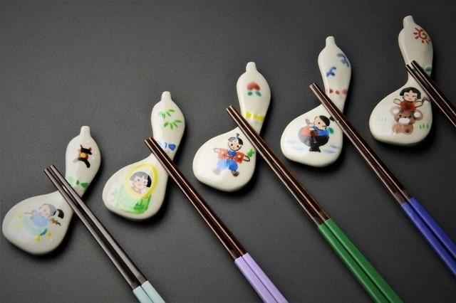 日本昔ばなし箸置揃い(5客1組) 清水焼