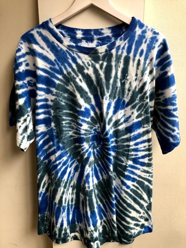 WESTBEACH ORGANIC COTTON TEE -Tie Dye Endless Blue Twist-