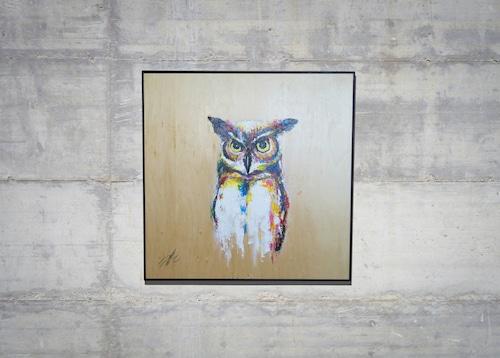 owl / フクロウ (額入り特別作品)