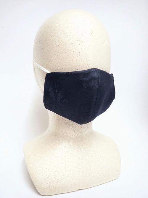 冷感 夏用 撥水ジャガード立体布マスク ネイビー