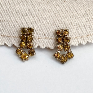 50's〜60's Vintage USA Yellow Stone Earring アメリカ 50年代 60年代 ヴィンテージ イエロー ストーン 石 イヤリング