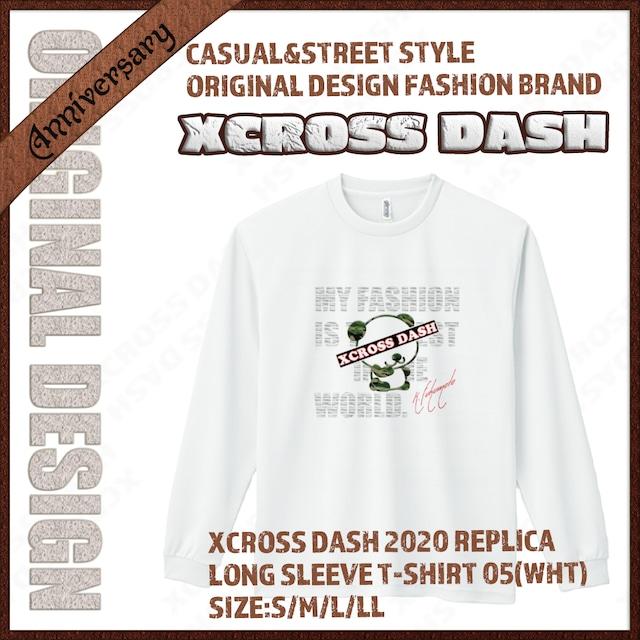 XCROSS DASH 2020 REPLICA Long sleeve T-SHIRT 05 (WHT) レプリカデザイン長袖Tシャツ