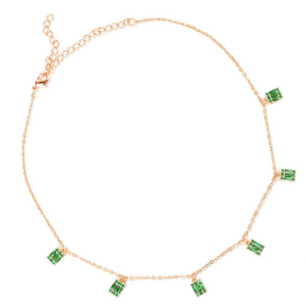 Bagutte 女性ウェディングキュービックジルコン カットラリアットネックレス流行 GeometricDubai シルバーペンダントネックレスRGR