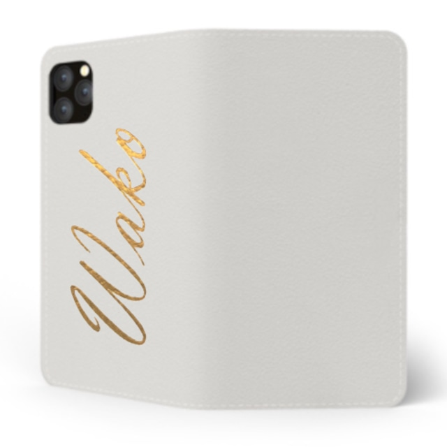 Custom Name iPhone with Premium Smooth Leather Case (Limited/10月分数量限定) Book Cover
