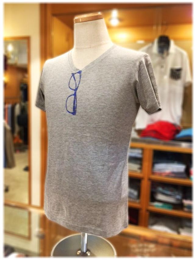 KOBE TARTAN        神戸タータン           Vネック 半袖Tシャツ
