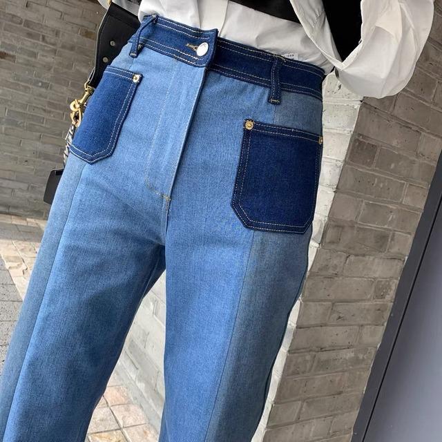 color pocket pants