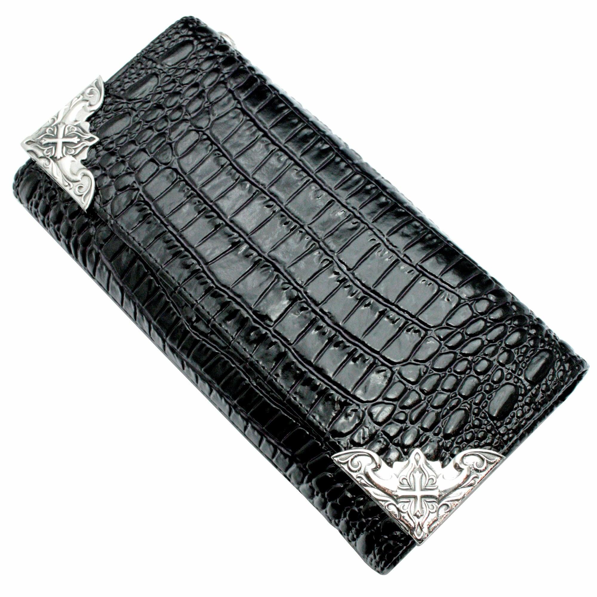 イーグルコーナーロングウォレット(クロコスタイルミッドナイトパープル) ACW0001 Eagle Corner Long Wallet (Croco Style Midnight Purple)