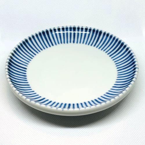 【砥部焼/梅山窯】4.6寸丸皿・切立(十草)