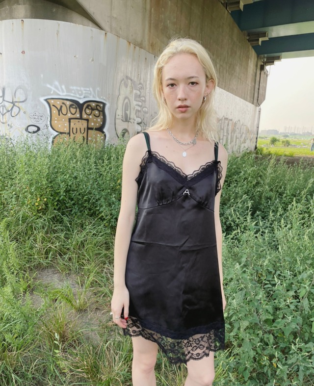 【ASHLEY】original A camisole one-piece(BLACK)