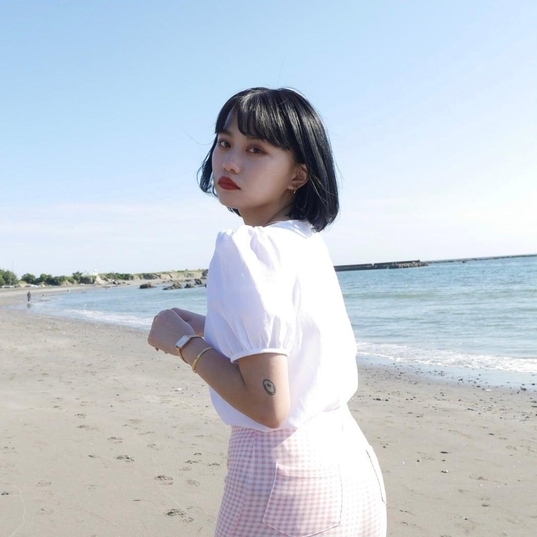 【Belle】heart blouse / white