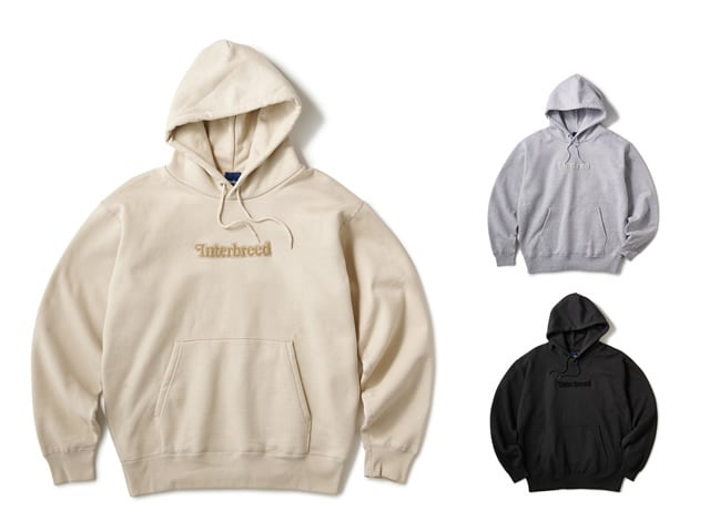 INTERBREED Pile Patched Logo Hoodie