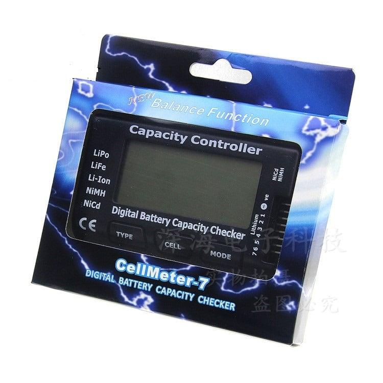 特価 NH2149◆デジタル バッテリー容量チェッカー 電圧テスター LiPo LiFe Li-ion NiMH用 2〜7Sバッテリーチェッカー&セルバランス機能