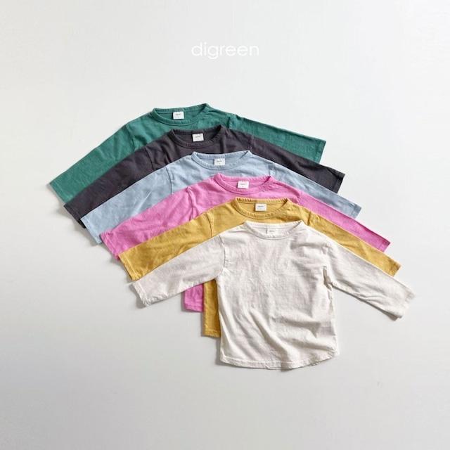 dgreen ( ディグリーン)Round T-shirt  カラー ラウンド カットソー