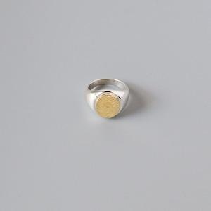 Signet Ring < 18K × silver >