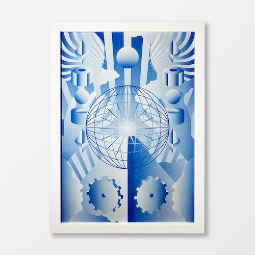 Artificial World A3 Risograph Print