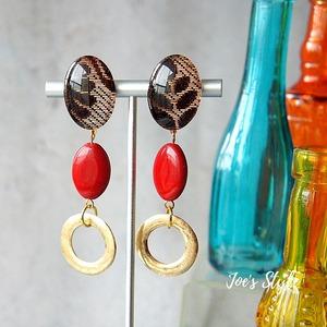 """ Earrings NO.0-1735″ エスニックリボン"