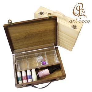 アクセサリー ケース ボックス 収納 箱 1個 [box-0001] 宝石 貴金属 装飾 木製